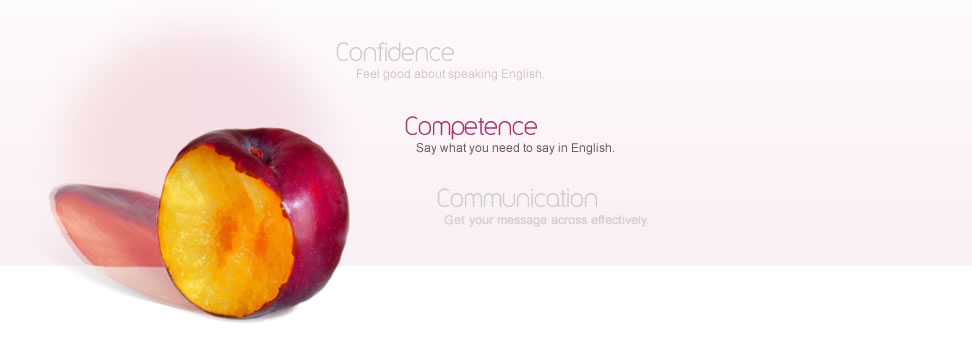 Competence - Say what you need to say in English.